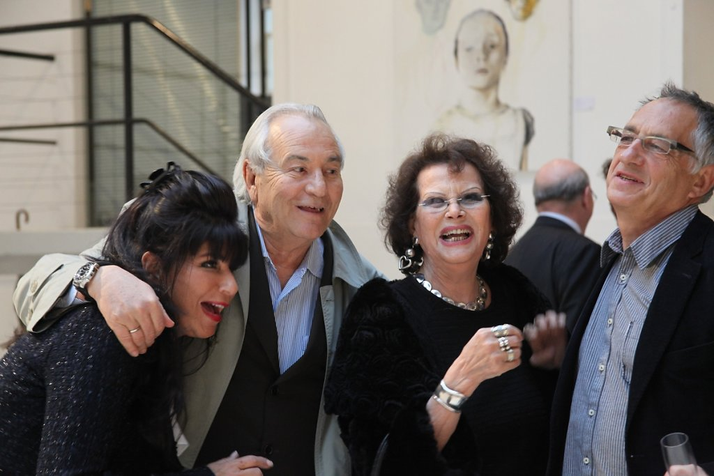 Avec Nikki, Alfonso, et Claudia Cardinale