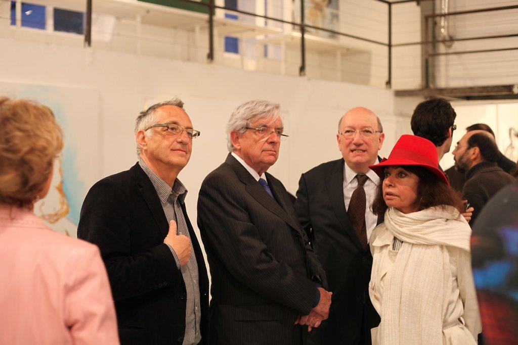 Avec Jean-Pierre et Nisa Chevènement, Michel Suchod