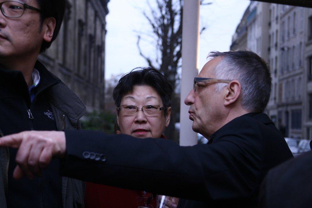 Avec   Yvon et Thérèse Chu Teh-Chun